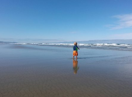 A boy and the ocean